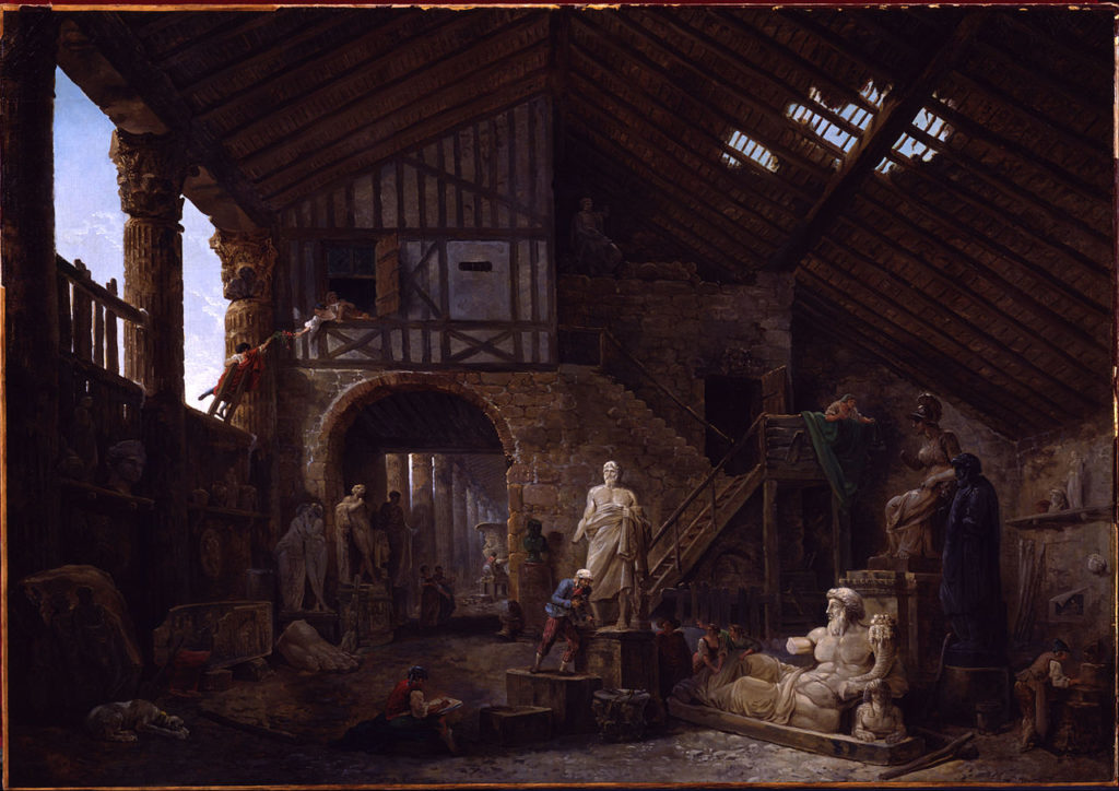 1280px-Hubert_Robert_-_Studio_of_an_Antiquities_Restorer_in_Rome_-_Google_Art_Project