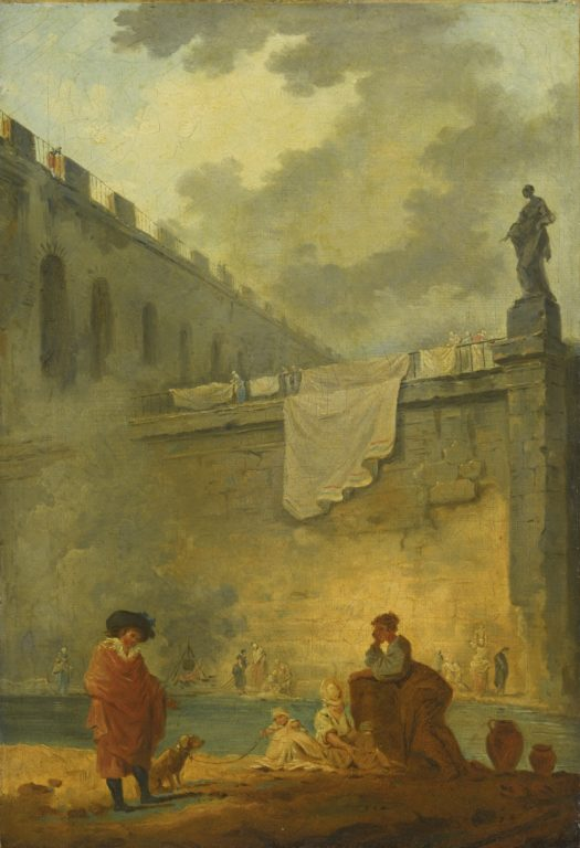 HUBERT_ROBERT_PARIS_1733_-_1808_FIGURES_AT_THE_WATERSIDE