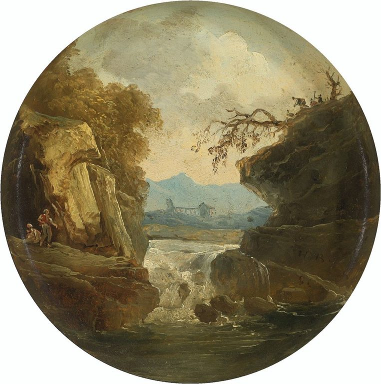 HUBERT_ROBERT_PARIS_1733_-_1808_LANDSCAPE_WITH_A_WATERFALL