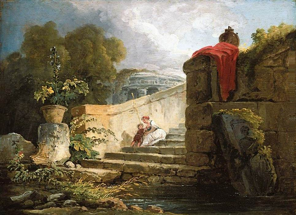Hubert_Robert_-_A_Scene_in_the_Grounds_of_the_Villa_Farnese,_Rome_-_WGA19580