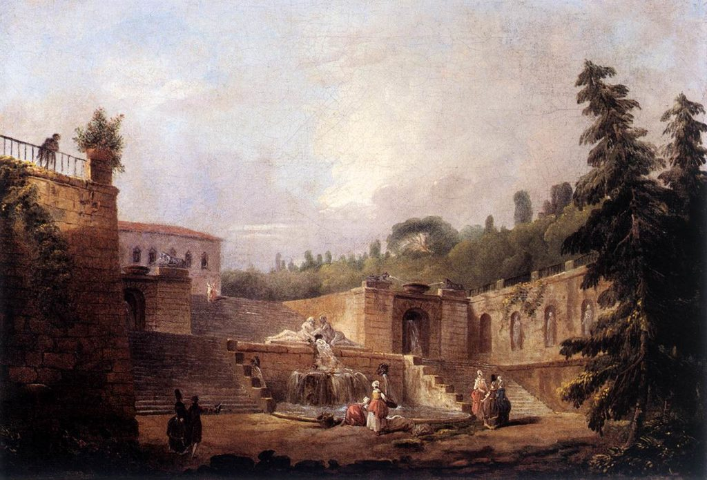 Hubert_Robert_-_Fountain_on_a_Palace_Terrace_-_WGA19583