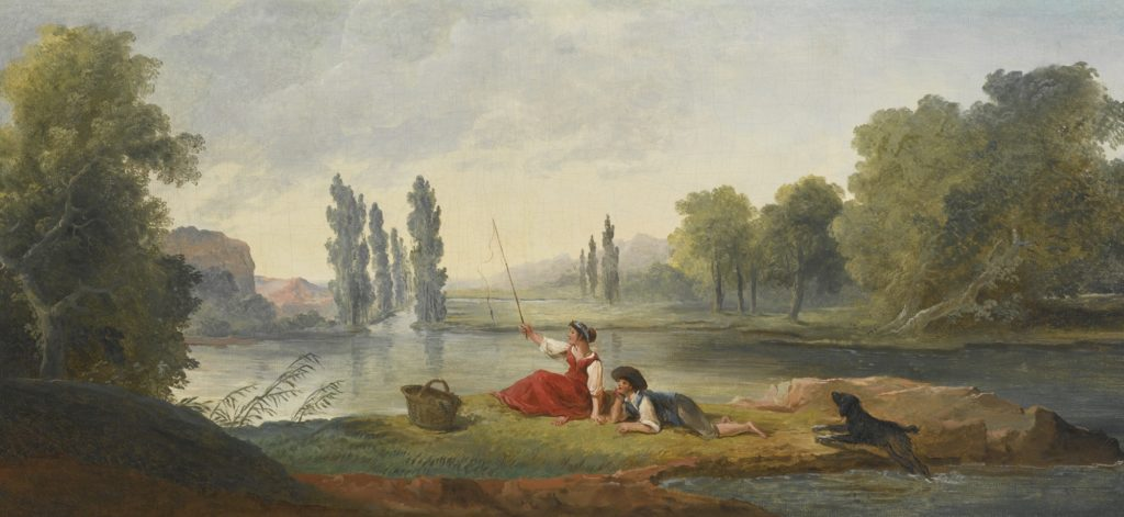 Hubert_Robert_A_Fishing_Party