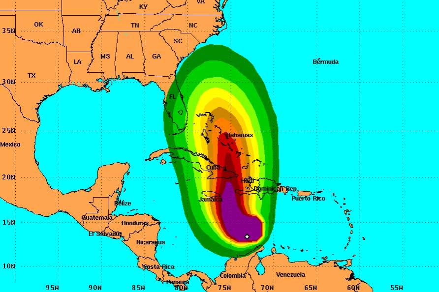 Map Of South America Jamaica.Hurricane Matthew Hit South America Earth Chronicles News