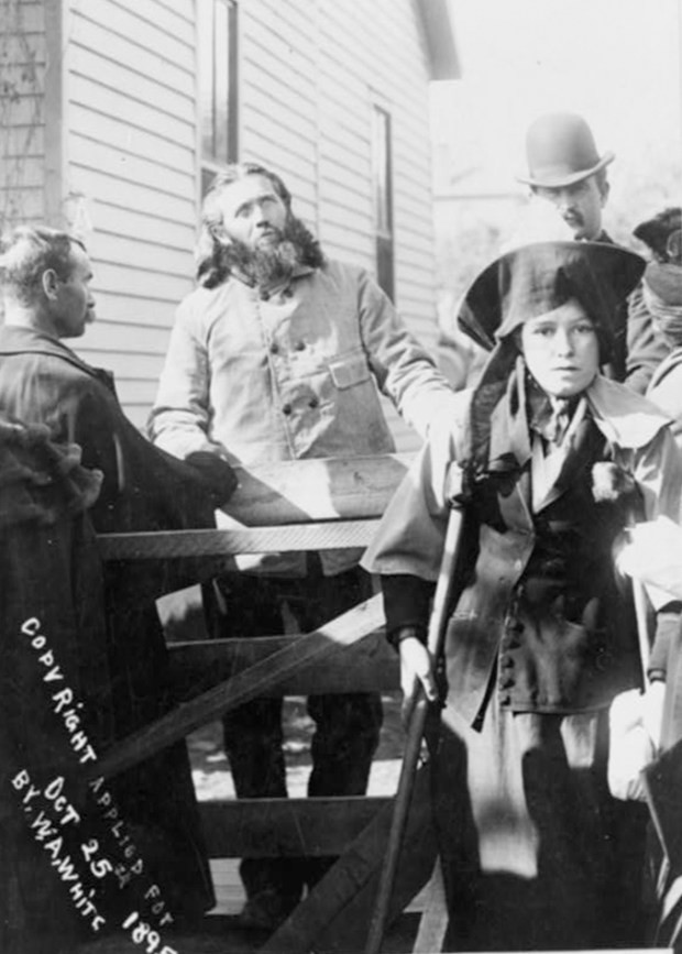 Francis Schlatter healing the sick in Raton, New Mexico, circ. 1895. Library of Congress