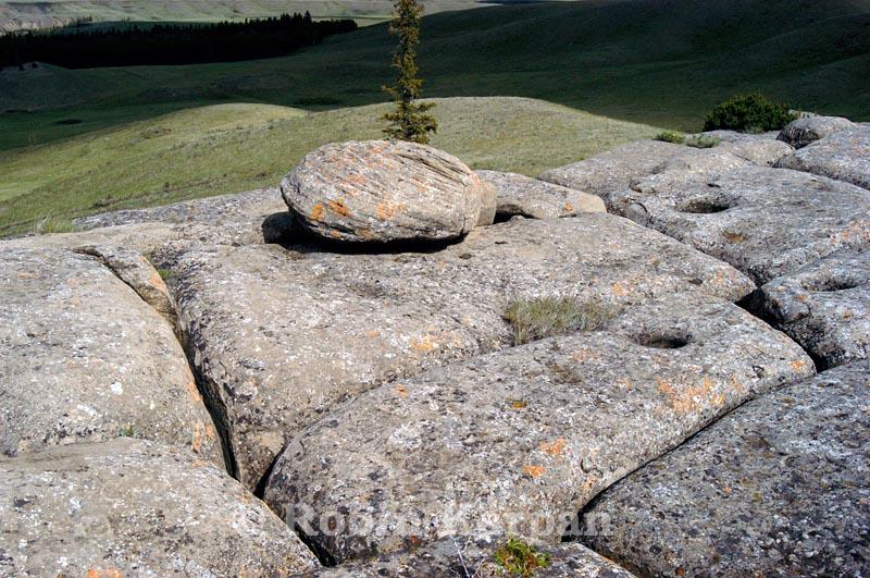 Mystery Rocks, large rock formations, Cypress Hills, Saskatchewan