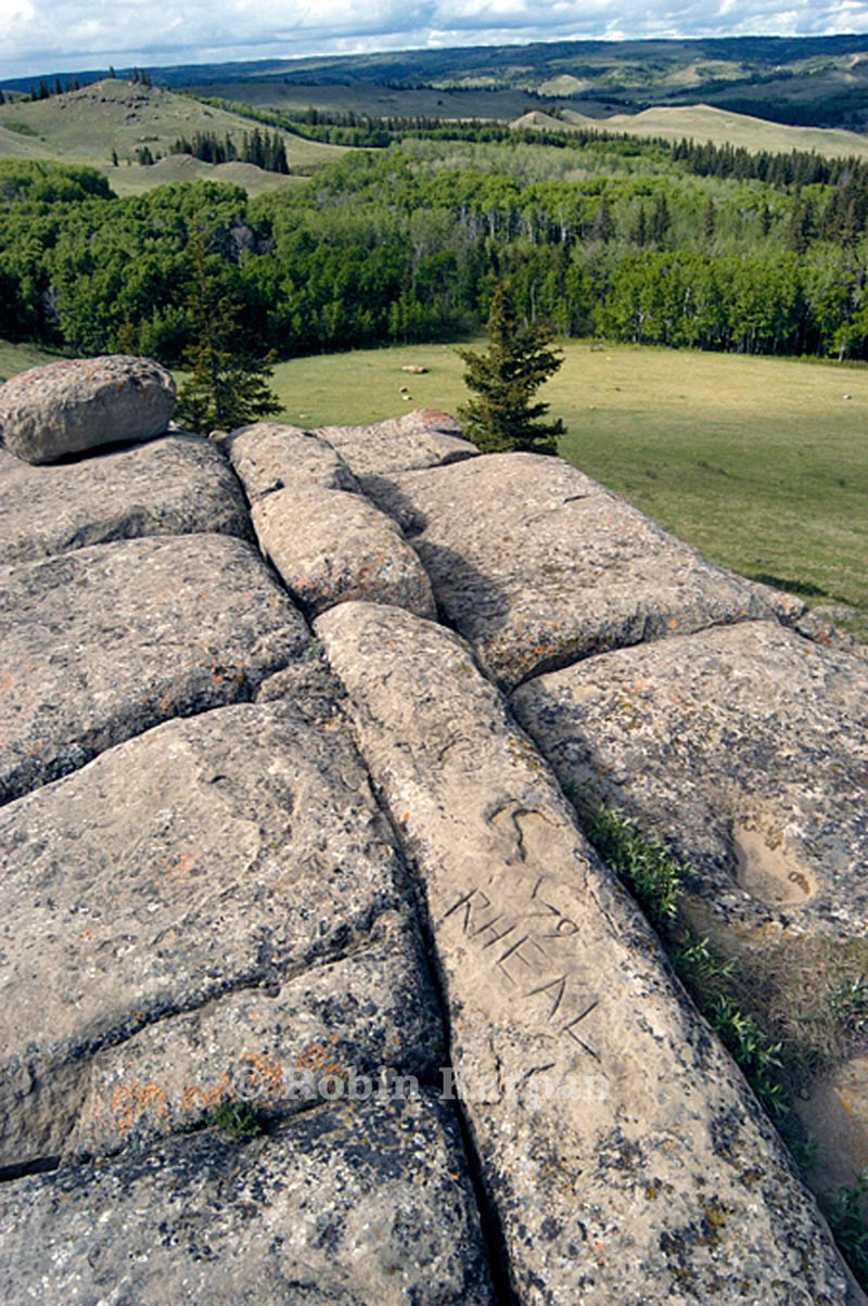 Mystery Rocks, large rock formations, Cypress Hills, Saskatchewan