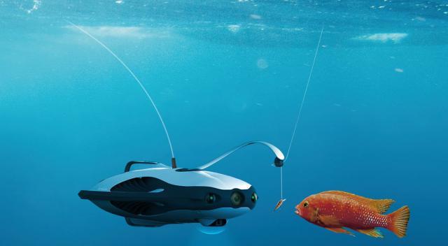 дрон для ловли рыбы