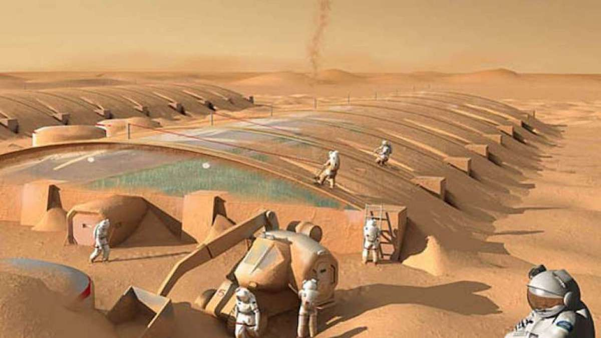Found a way to create building materials on Mars without ...