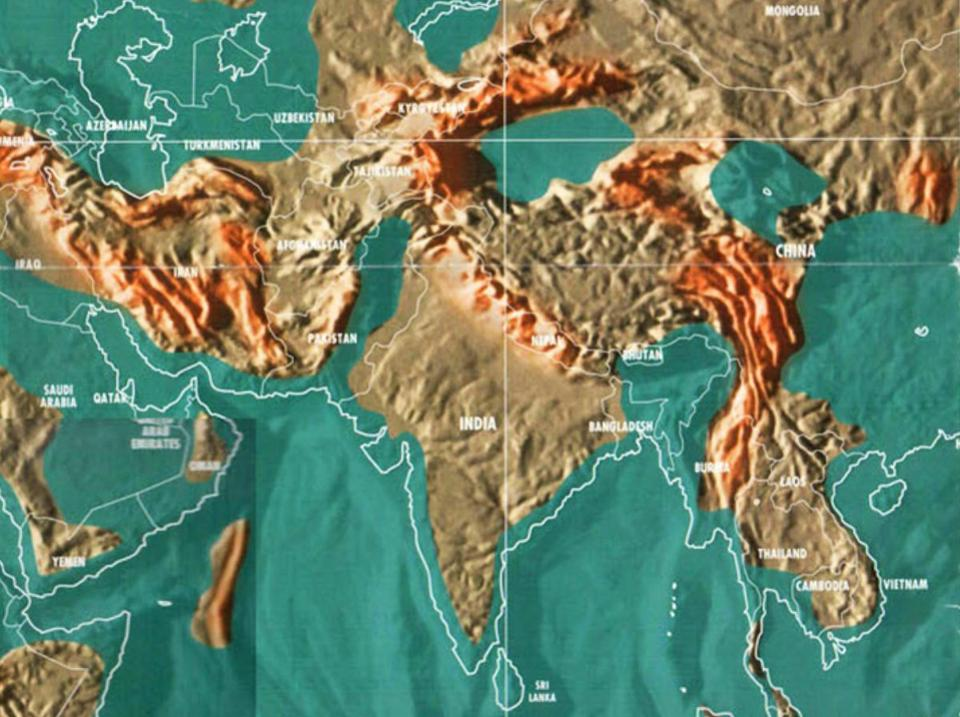 Forbes magazine published maps of the world after the global flood ...