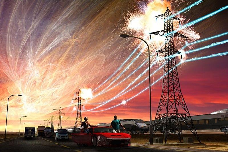 depiction of solar storm 1859 - photo #17