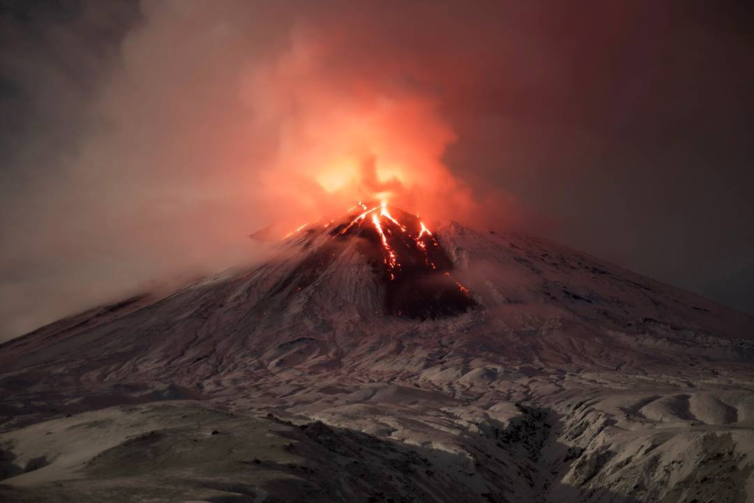 Image result for Shiveluch Volcano