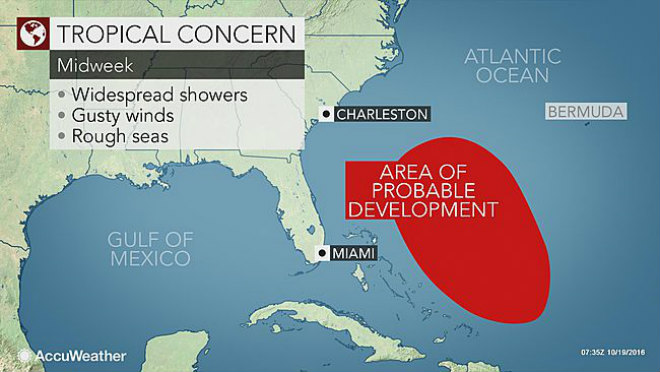 A Tropical System In The Western Part Of The Atlantic Ocean Could Become The Next Tropical Storm Of The Hurricane Season In The Atlantic In 2016 This Week