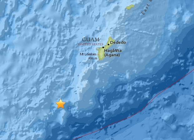 An Earthquake Of Magnitude Occurred Near The Island Of Guam - Where is guam located